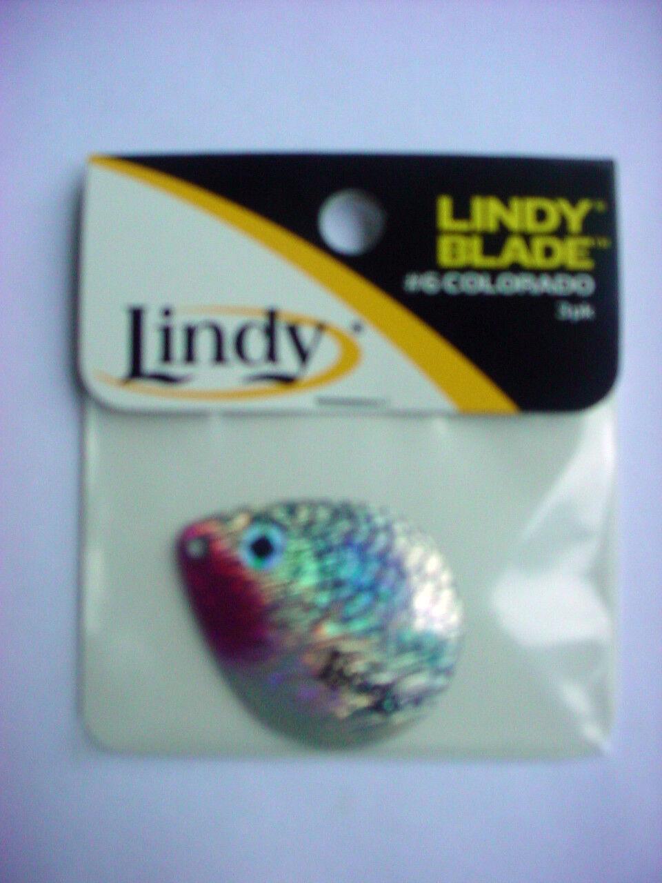 6 PACKS LINDY BLADES #3 INDIANA LBI306 SHINER 3 PER PACK-18 TOTAL