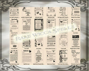 28-Parchment-Page-Lot-LOVE-SPELLS-RITUALS-for-Book-of-Shadows-Wicca-Pagan-Strega