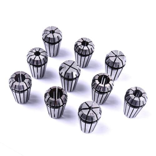 10Pc ER16 Precision Spring Collet Set CNC Milling Lathe Tool Workholding 1-10mm