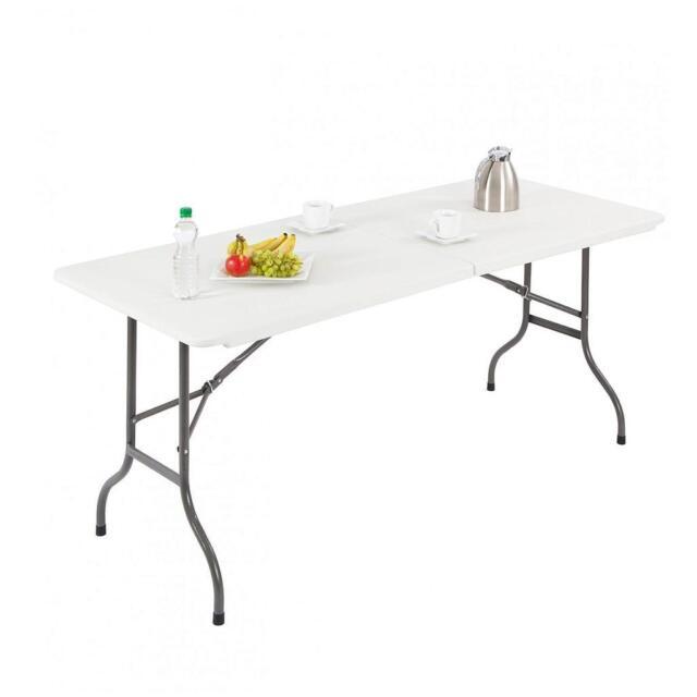Amazon Table Traiteur Pliante 152 Cm Table Buffet Camping Pliable Avec Poign