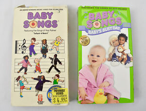 Baby Songs & Baby Songs Busy Day ( 2 VHS LOT ) 1990s Hap ...