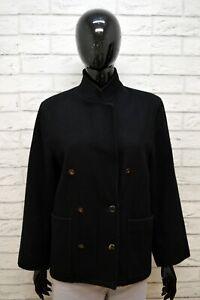 Giacca-Donna-MARELLA-Taglia-L-Maglia-Coat-Jacket-Blazer-Nero-Woman-Lana-Jacke