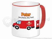 Personalised Gift Post Mail Van Mug Delivery Truck Driver Postman Present #2