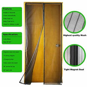 Image Is Loading Gimars Screen Door Strong Magnetic Velcro Magic Mesh