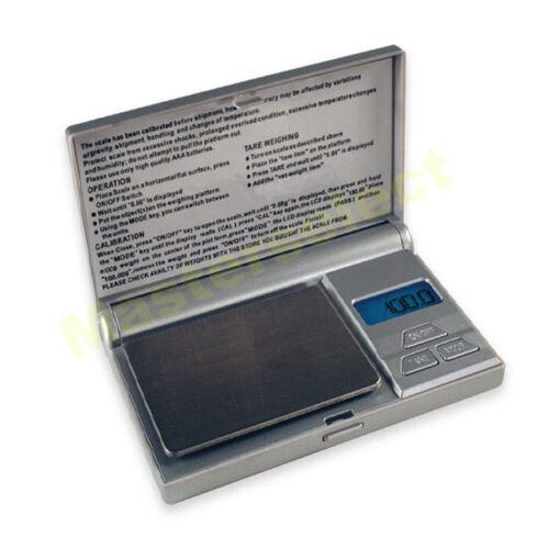 Petite balance de poche compact 0,1g 500G pour bijoux or epices precise