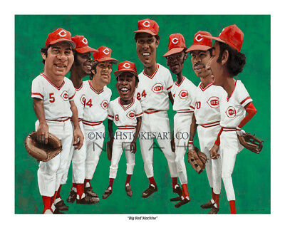"/""Big Red Machine/"" Cincinnati Reds 8/"" x 10/"" print by Noah Stokes"