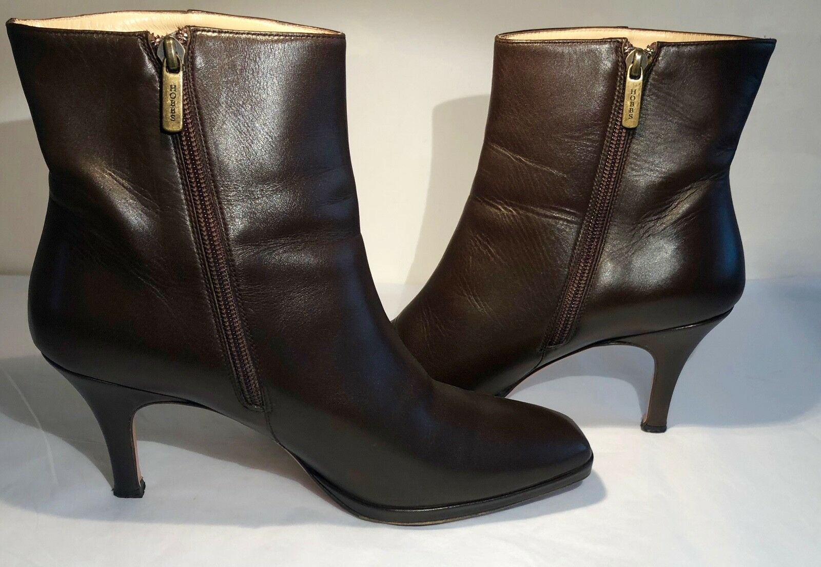HOBBS CHOCOLATE SIZE BROWN LEATHER ANKLE Stiefel SIZE CHOCOLATE 41/7 PRE LOVED 8f9977