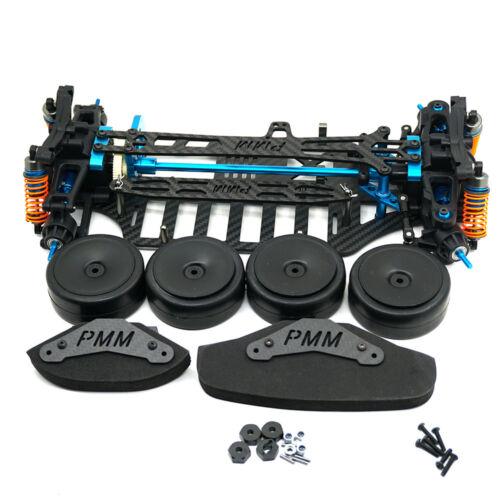Plastic /& Carbon Shaft Drive 1//10 RC 4WD Touring Car Frame Kit for TT01