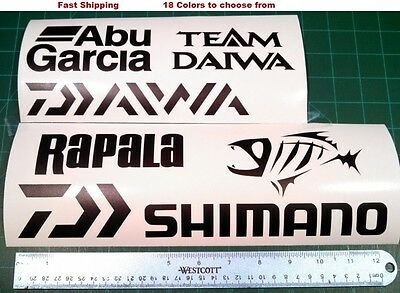 New Daiwa Stickers Black with Silver Metalic Letters