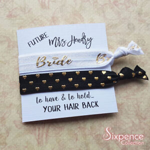 Future Mrs Personalised Hair Tie Gift   Bride Gift   Engagement ... b867e371812