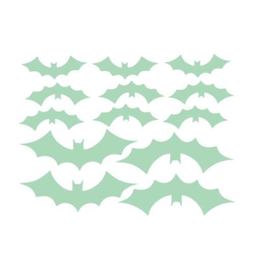 Halloween Glow In The Dark Luminous Bat Bedroom Wall Stickers Light Home Decor