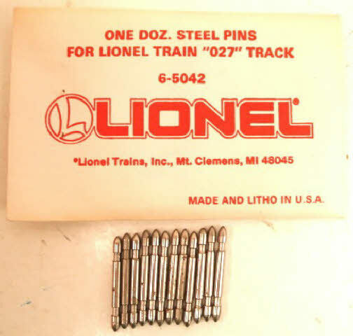 GENUINE LIONEL 027 STEEL TRACK CONNECTOR PINS 3 rail tubular 6-65042 FIT RIGHT