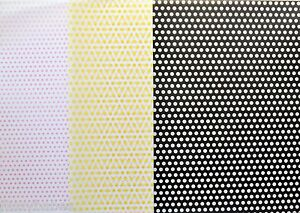 2-x-A4-Sheets-Spotty-Vellum-112gsm-Choice-of-Pink-Yellow-amp-Black-NEW