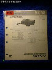 Sony Service Manual MX V8 Video Camera Microphone Mixer (#1422)