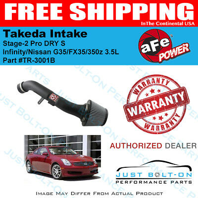 AFE Power Takeda Stage 2 DRY Cold Air Intake For Infiniti G35 03.5-06 3.5L