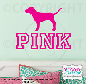 Victoria's Secret PINK logo with Dog Vinyl Wall Decal ... - photo#20