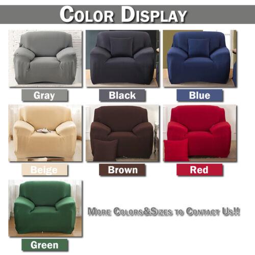 1-4 Seats Universal Sofa Funda Couch Cover Corner Stretch Slipcover Easy Instal