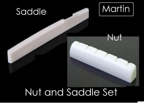 """44mm BONE NUT and SADDLE SET made for MARTIN Guitar AxeMasters 1 3//4/"""""""