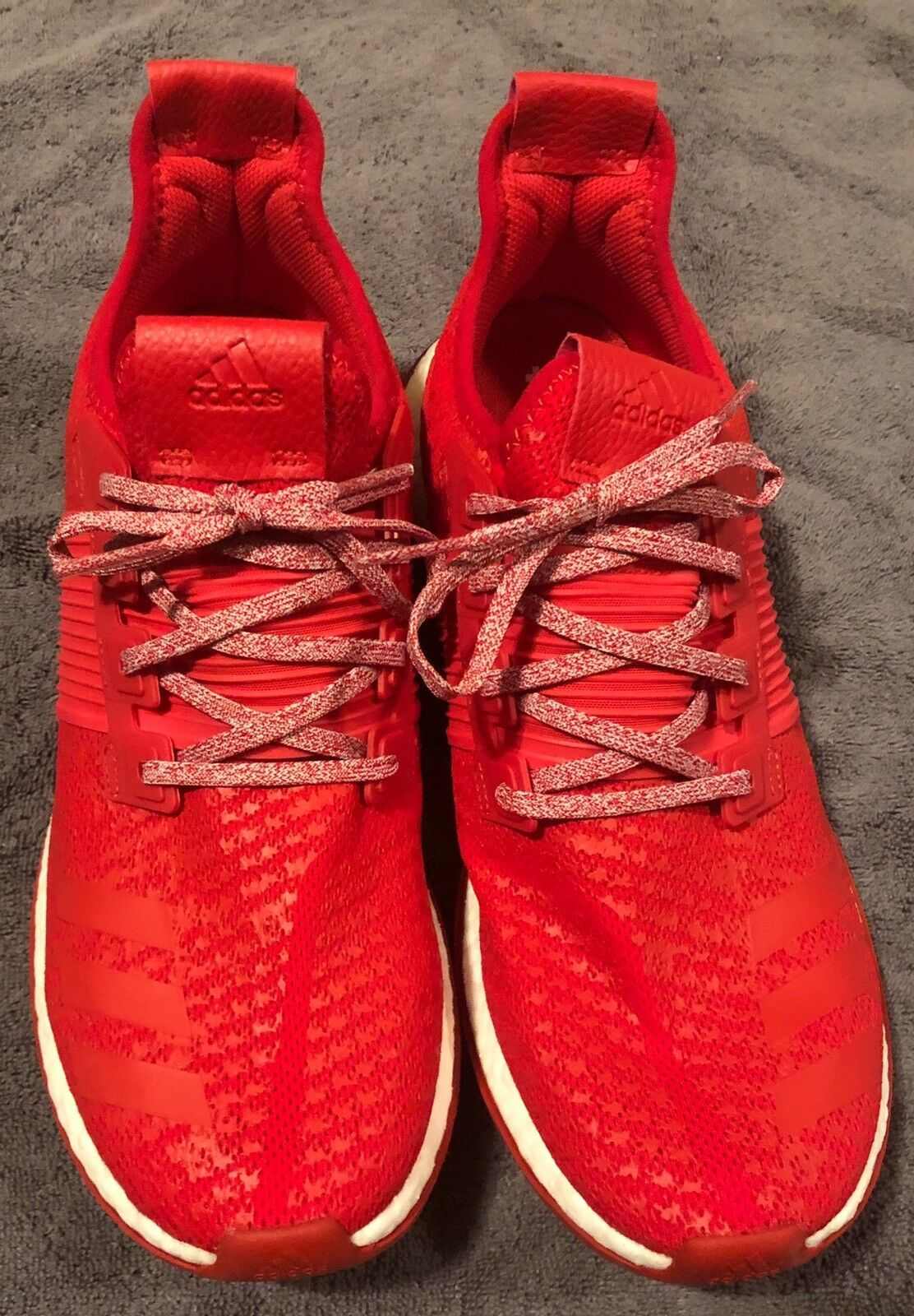 f6f091375348b adidas Men s Size 11 Pureboost ZG Running Shoes Red White Ba8453 for sale  online