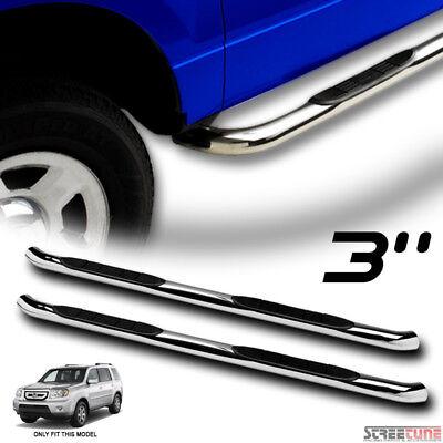 "3/"" Chrome Stainless Side Step Bars Rail Running Boards HD Fits 09-15 Honda Pilot"