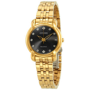 Citizen Eco-Drive Women's Jolie Gold-Tone Bracelet 30mm Watch EM0712-59E