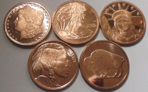 5 2011 ONE AVDP OZ EACH .999 Fine Morgan Dollar Indian Head Walking Liberty,