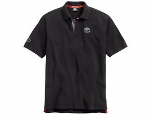 Harley-Davidson-Men-039-s-Burning-Skull-Polo-Shirt-99030-15VM