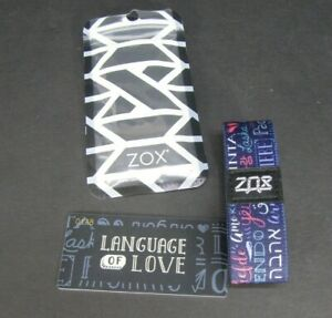 ZOX-Silver-Strap-LANGUAGE-OF-LOVE-Wristband-with-Card-Reversible