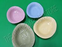 Pottery Barn Charlotte Easter Egg Bowls Set 4 Pastel Colors Embossed Stoneware
