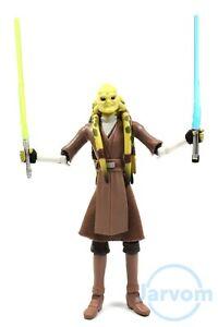 Star-Wars-TCW-Clone-Wars-CW23-Jedi-Maestro-Kit-Fisto-Loose-Completo