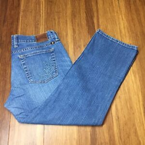 NEW Lucky Brand Womens Jeans BROOKE Skinny Leg Embroidered Light Blue Sz 31  $119