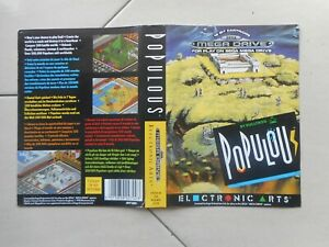 Cover Only For Empty Box Genuine Original Vintage Populous Sega Megadrive