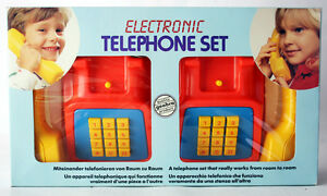 VERY RARE VINTAGE 1990 ELECTRONIC TELEPHONE SET GEOBRA NEW MIB !