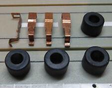 für H0 Slotcar Racing Modellbahn -- 4 Reifen + Schleifer für Tyco Motor
