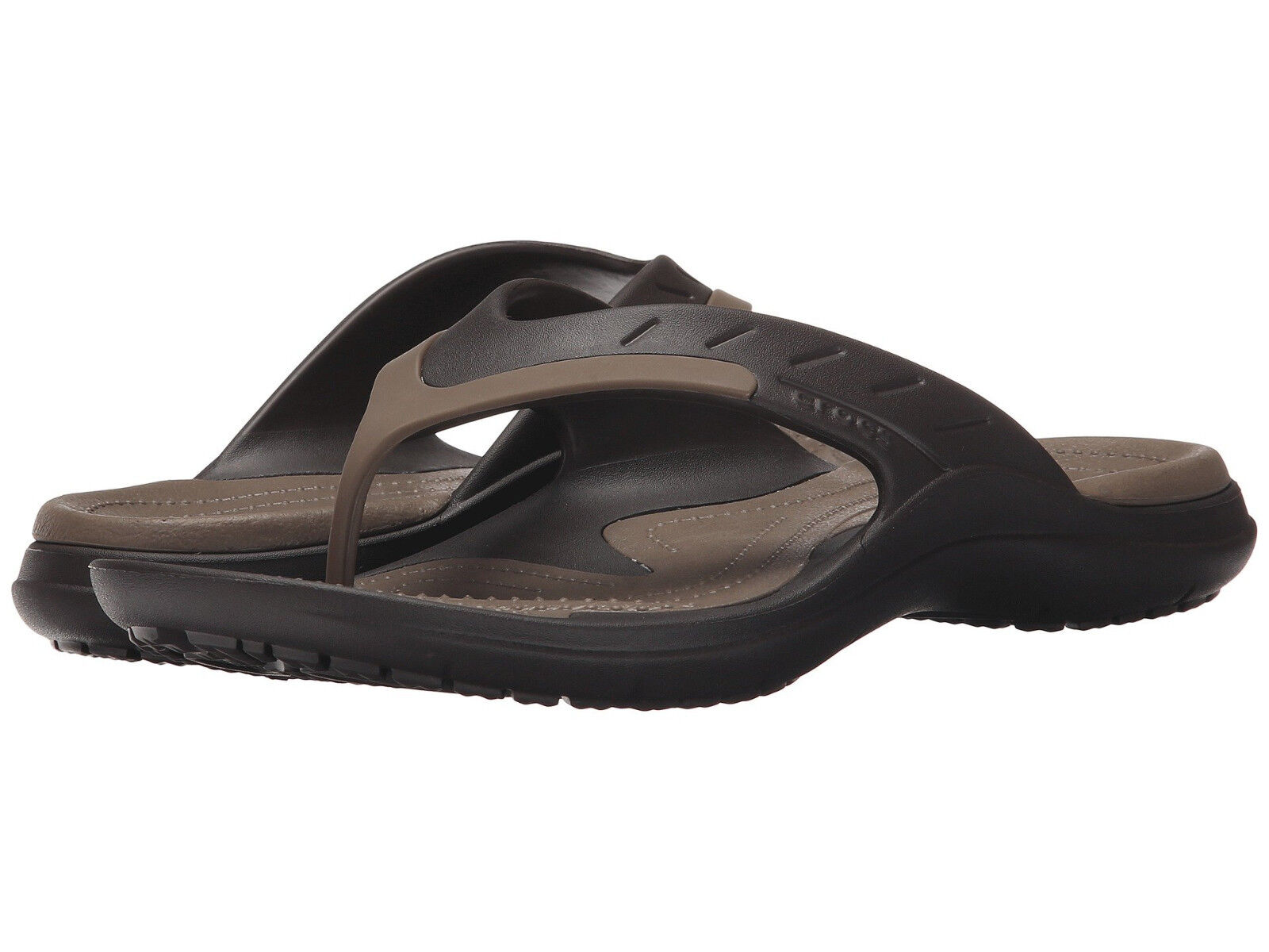 Men Crocs Modi Sport Flip Flop Sandal 202636-23B Espresso Walnut 100% Authentic