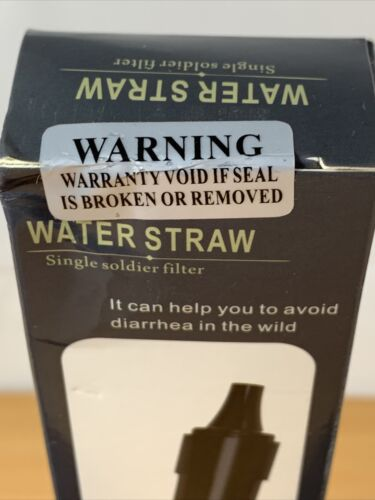 2X camping gear Water Straw Clean Supplies Outdoor Safe And Sealed Fast Shipping