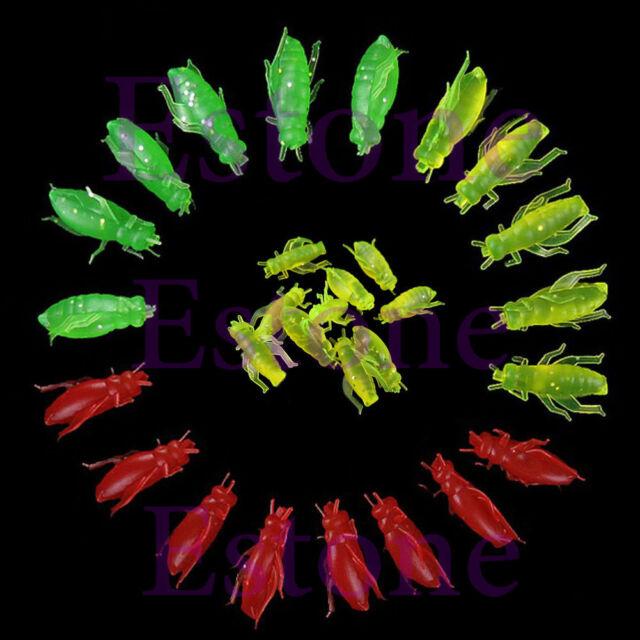 10/50/100pcs Silicone Soft Grasshopper Shape Bait Fishing Lure Fish Lures