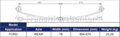 2 X Arrière Double 2 Ubolts Pour Ford Transit MK7 2006-2014 RWD 1+1 Leaf Spring
