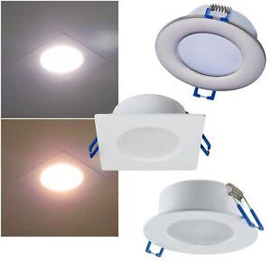 LED Decken-Einbauleuchte IP44 230V 5W Einbaustrahler Bad Feuchtraum Außen