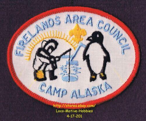 LMH Patch  BOY SCOUTS Scout CAMP ALASKA BSA Camporee FIRELANDS AREA COUNCIL Ohio