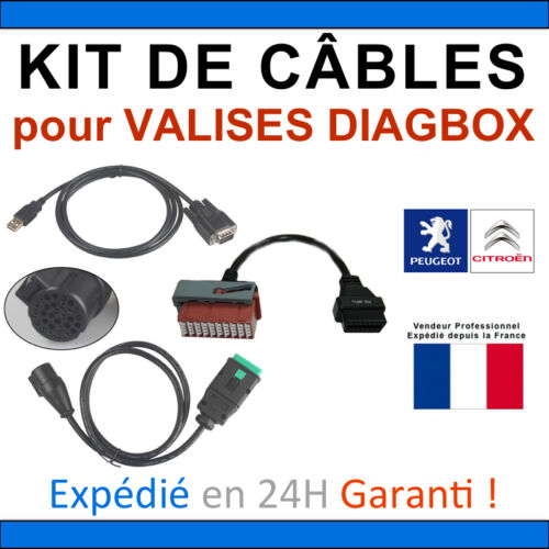 Kit de Câbles de REMPLACEMENT pour VALISE DIAGBOX LEXIA PP2000 MULTIDIAG AUTEL