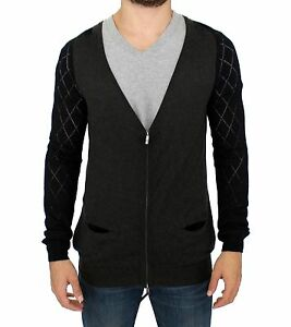 COSTUME-NATIONAL-C-039-N-039-c-Gray-Zipper-Cardigan-Sweater-s-IT48-US38-M
