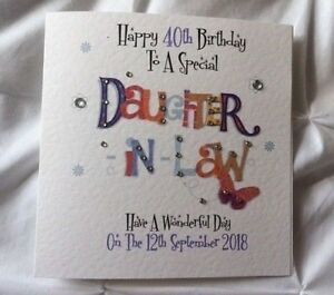 Image Is Loading Handmade Personalised Birthday Card DAUGHTER IN LAW 25th