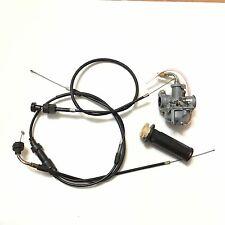 NEW PW50 Carburetor Throttle & Choke cables Throttle Grip fit Yamaha PW50 PY50