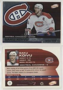 2002 03 Pacific Atomic Hobby Parallel 775 Saku Koivu 55 Ebay