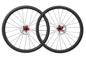Disc-brake-Carbon-Wheelset-Clincher-Tubeless-Road-Bike-700C-Floating-Rotor-40mm