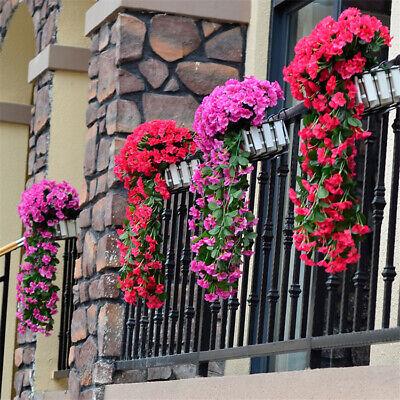 Artificial Violet Hanging Flower Fake Vine Plant Home Balcony Wedding Decoration