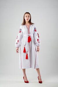 Ukrainian Dress Boho Dress Bohemian Dress Ukrainian Boho Boho Embroidered Dress Ukrainian  Embroidered Dress Black Embroidered Dress