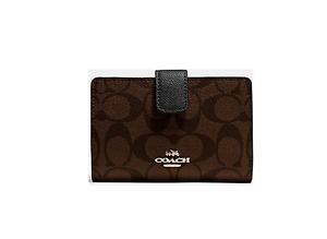 85754fe42c NWT Coach Signature PVC Medium Corner Zip Wallet Coin Purse F54023 ...