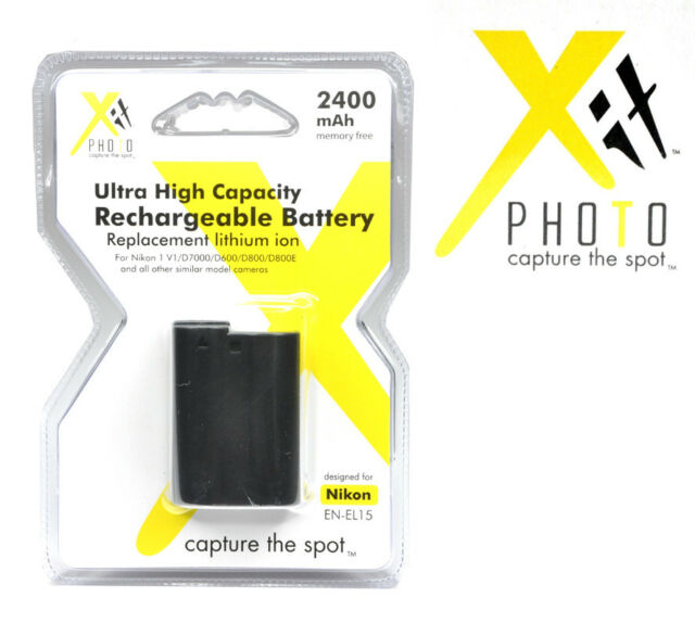 Xit Xtenel15 Replacement Battery For Nikon Black Ebay